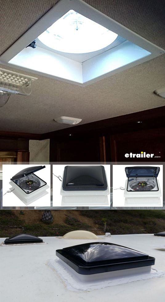 Fan Tastic Vent Roof Vent W 12v Fan Manual Lift 14 1 4 X 14 1 4 Fantastic Vent Rv Vents And F Trailer Living Roof Vents Trailer