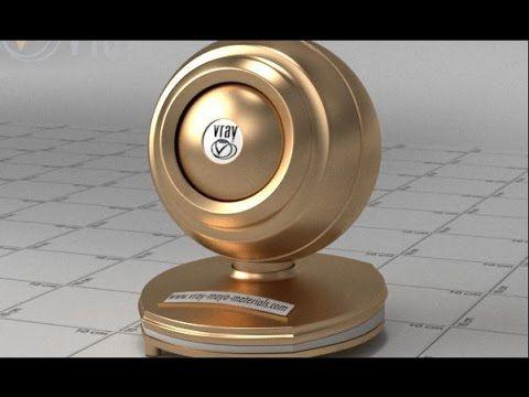 vray sketchup | gold material | Vray materials | Gold