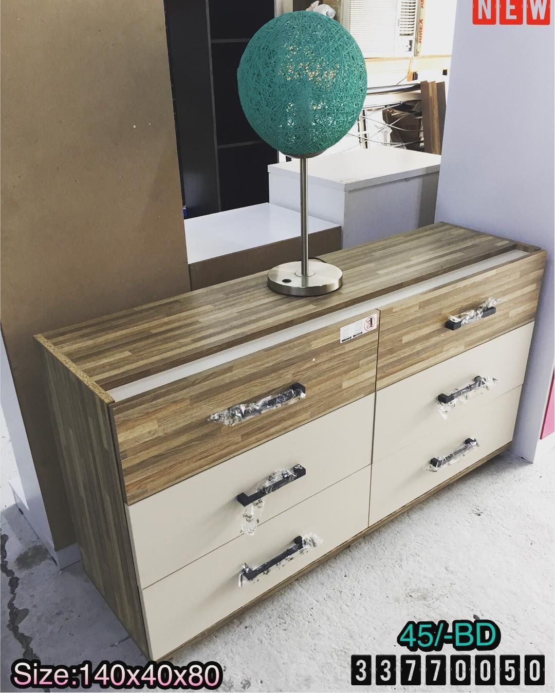 For Sale Wood Side Table Size 140x40x80 Brown Color New Price 45 Bd للبيع خزنة ادراج خشب لون بني جديد السعر 45 Vanity Home Decor Bathroom Vanity