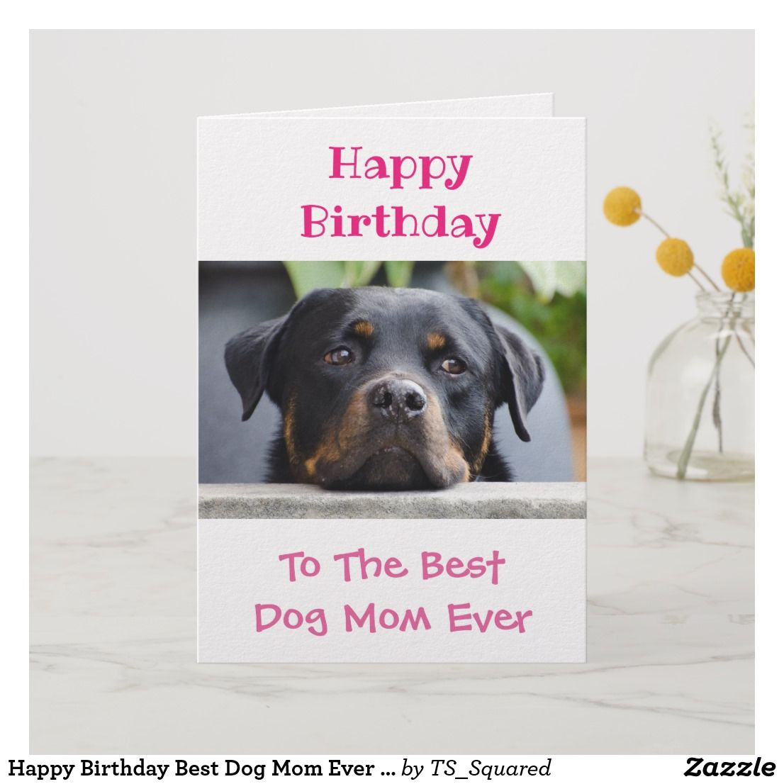 PERSONALISED BIRTHDAY CARD FROM THE DOG HAPPY BIRTHDAY TO DAD FROM THE DOG
