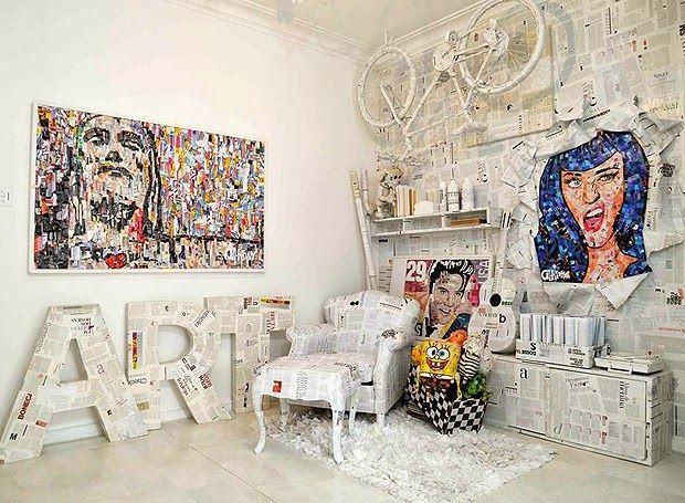 apartamento do artista Anderson Thives no Arpoador, Rio de Janeiro