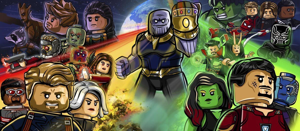 Lego Avengers Infinity War Poster By Lewis Blythe Marvel Lego