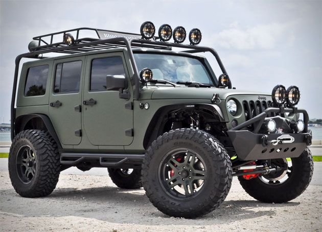 Military Green Jeep Wrangler By Cec Wheels 3 Jeep Freak Olllllo