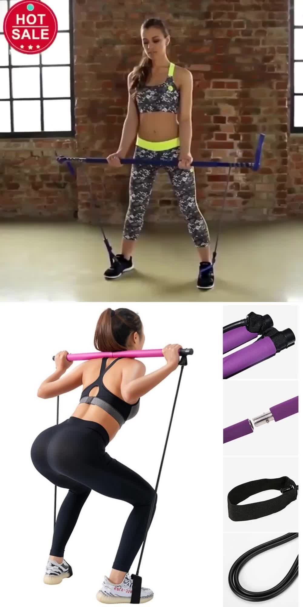 How to Tone and Shape your Body |Portable Pilates Exercise Stick Toning Bar