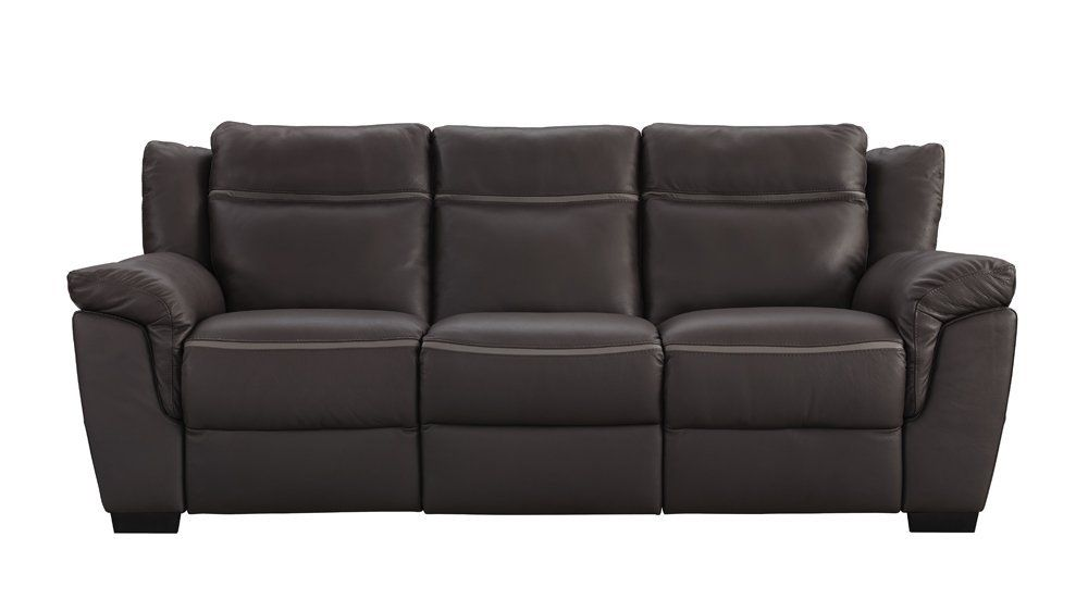 Incredible Amalfi Brown Leather Power Motion Reclining Sofa Sofa Dailytribune Chair Design For Home Dailytribuneorg