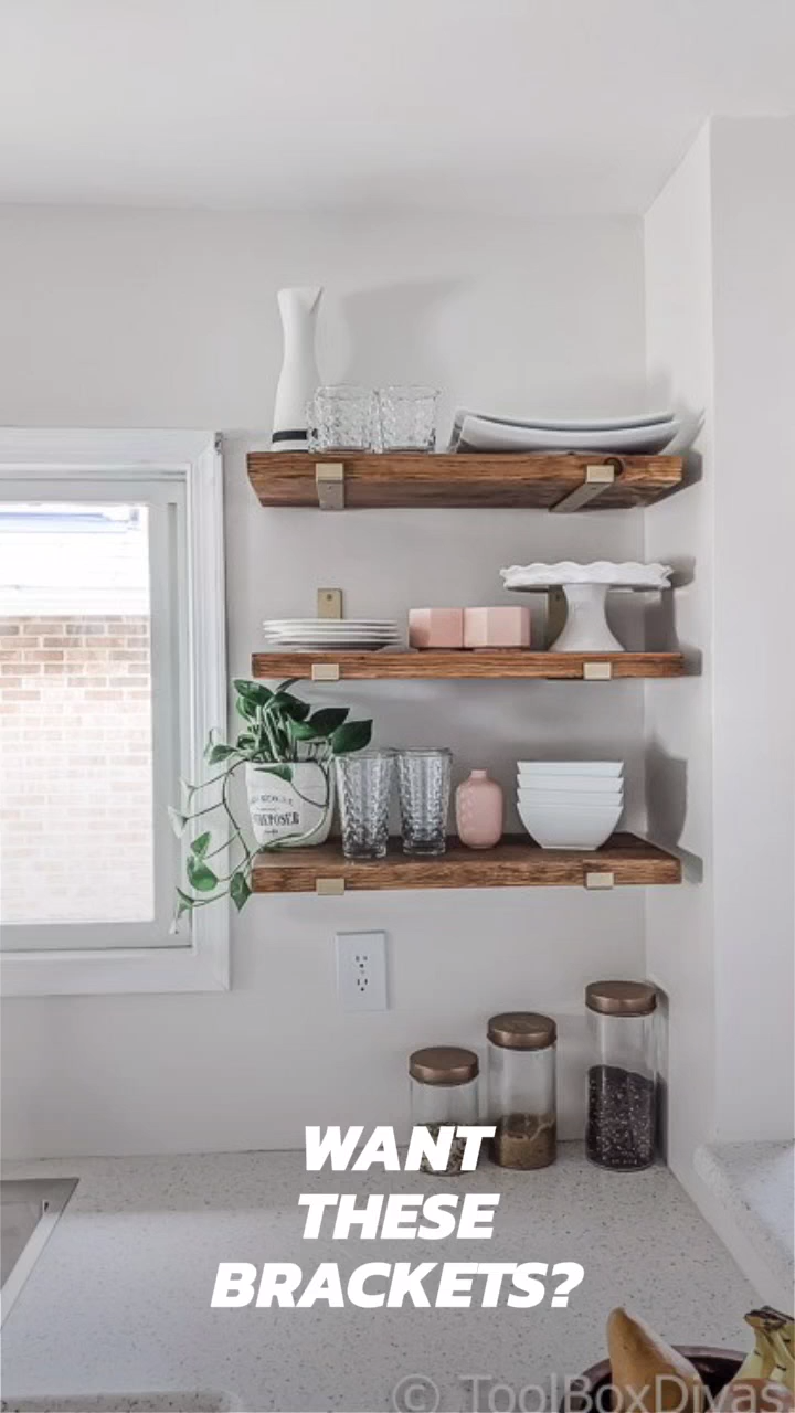 EASY Tutorial - DIY Open Shelving for the Kitchen -   19 diy Kitchen decorating ideas