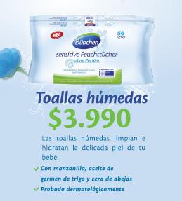 Toallas Húmedas para el cuidado de tu bebé. Bübchen. www.mundopetit.cl