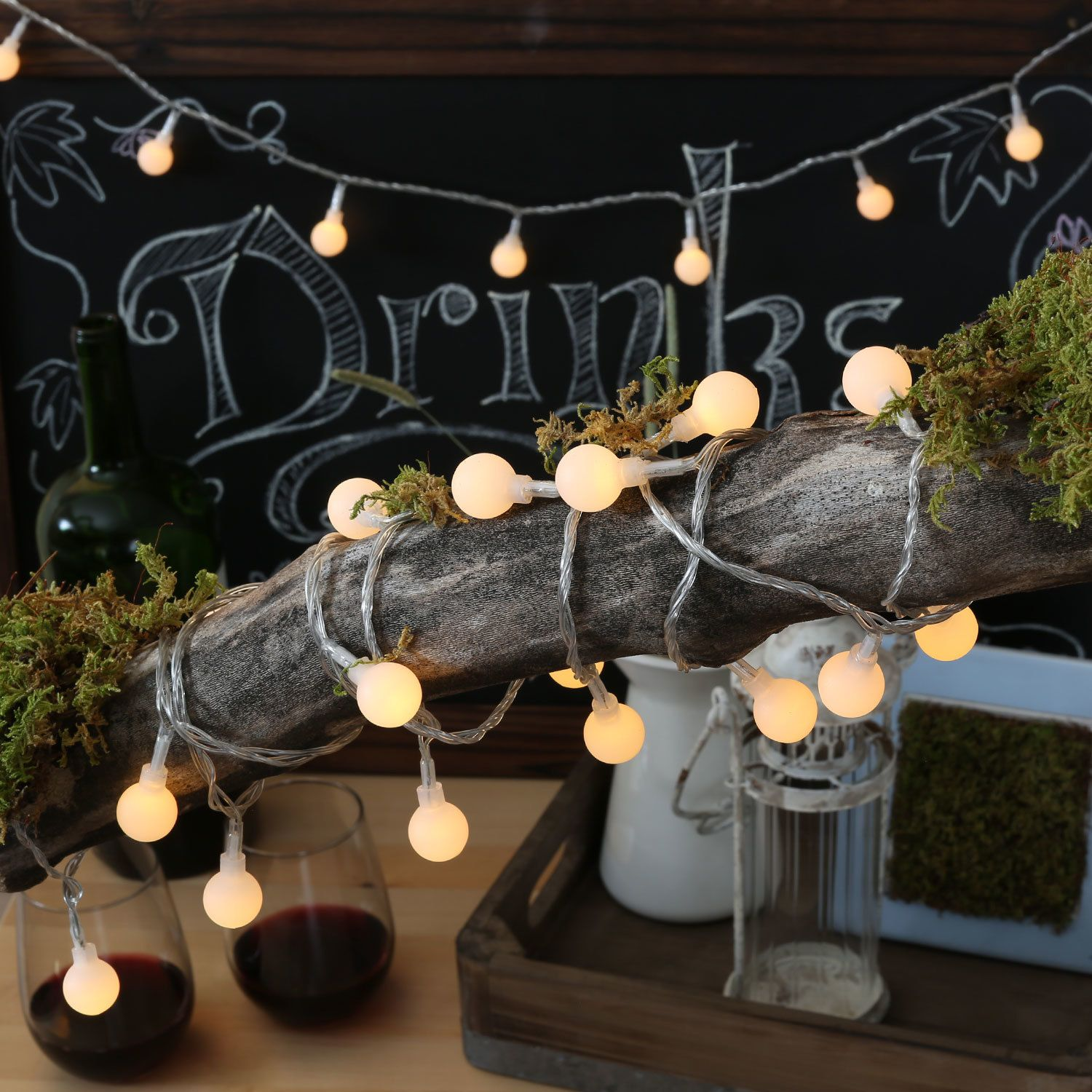 Portrait Of Vintage Outdoor String Lights Ideas - Garden And