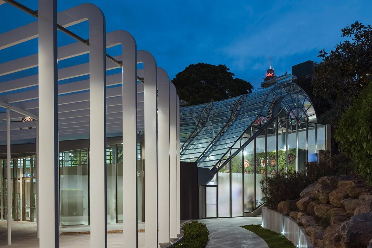 Exterieur Botanic We Ef The Calyx Project At Sydney S Royal Botanic Gardens Has