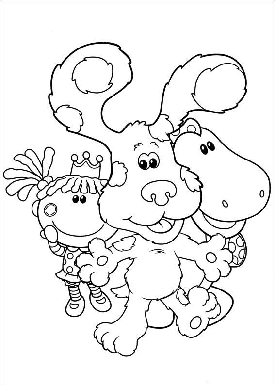 Coloriage Dessins Blue S Clues 3 Cool Coloring Pages Hello Kitty Colouring Pages Bird Coloring Pages