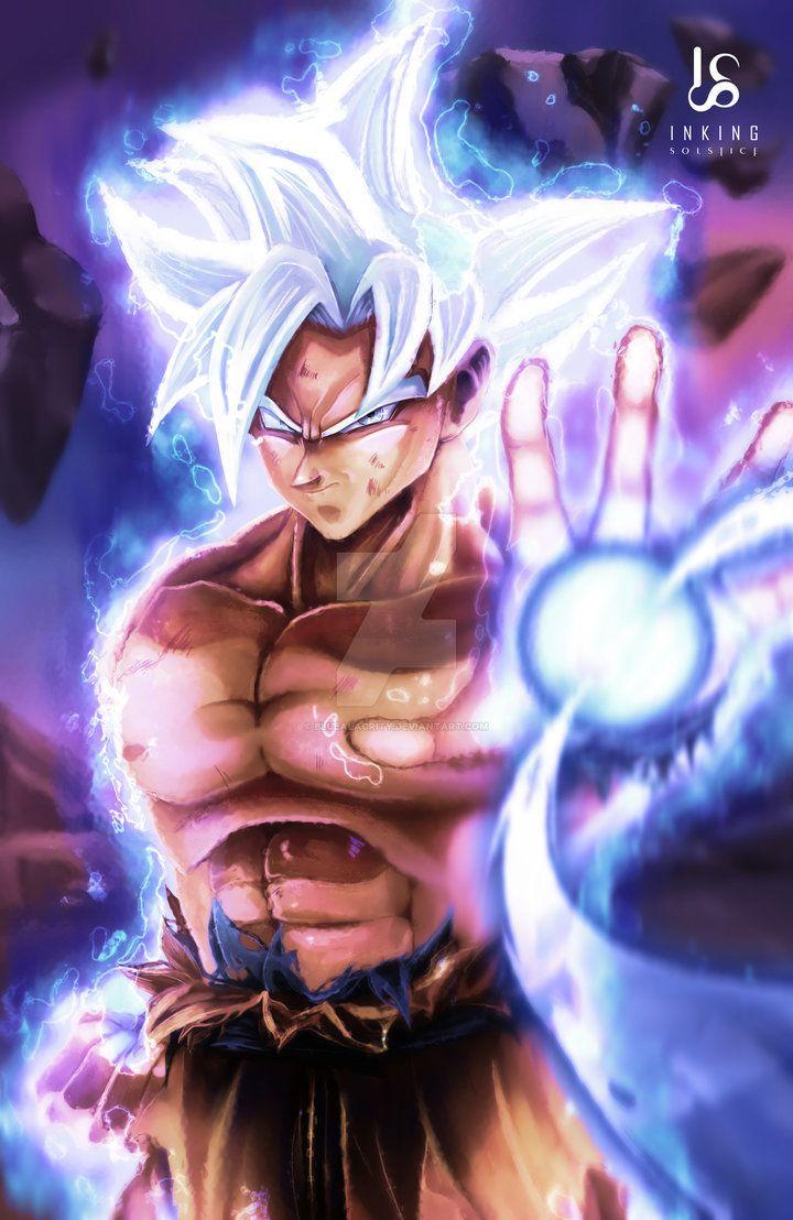 Mastered Ultra Instinct Goku By Bluealacrity Goku Wallpaper Dragon Ball Wallpapers Dragon Ball Super Wallpapers