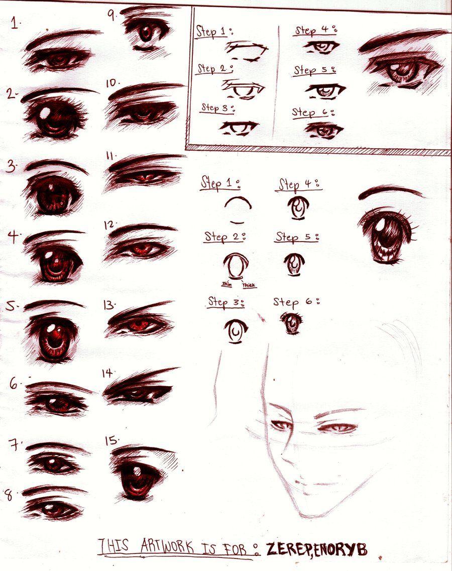 Sketch Of Anime Boys Eyes  Buscar Con Google