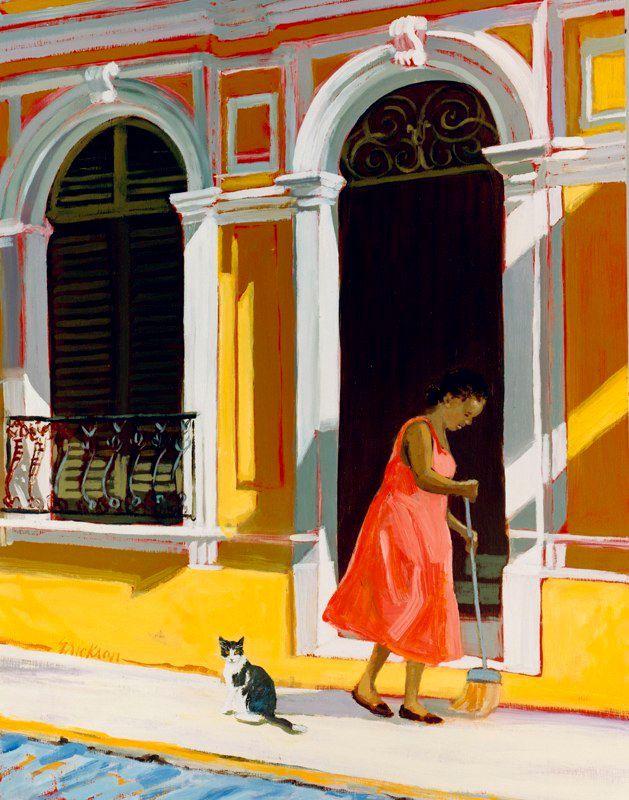 """""""Clean Sweep"""" by contemporary Caribbean artist Shari Erikson"""