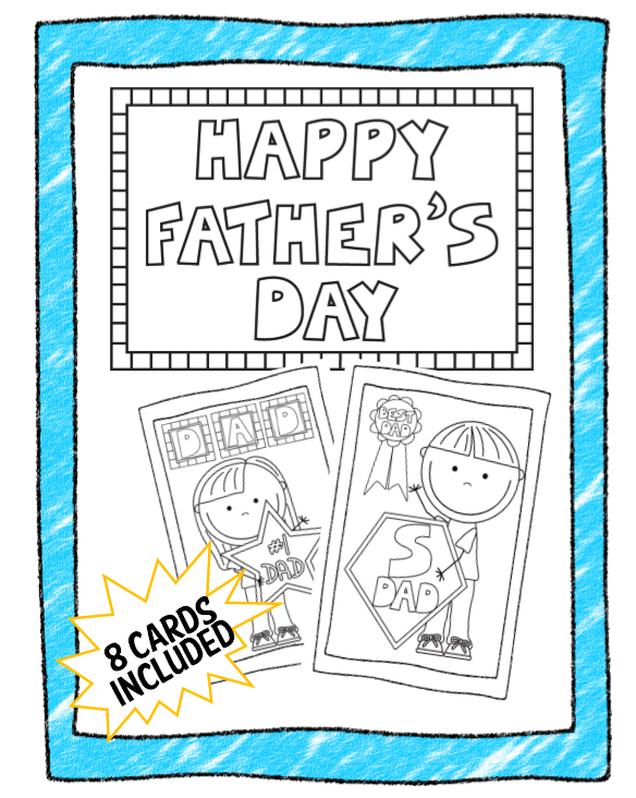 fathers day card worksheet - 584×732