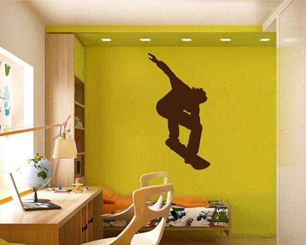 kik2330 Wall Decal Sticker snowboarding snowboarder jump guy living ...