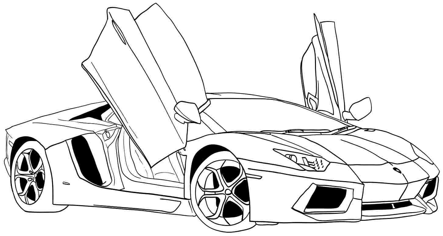 coloring page car # 4