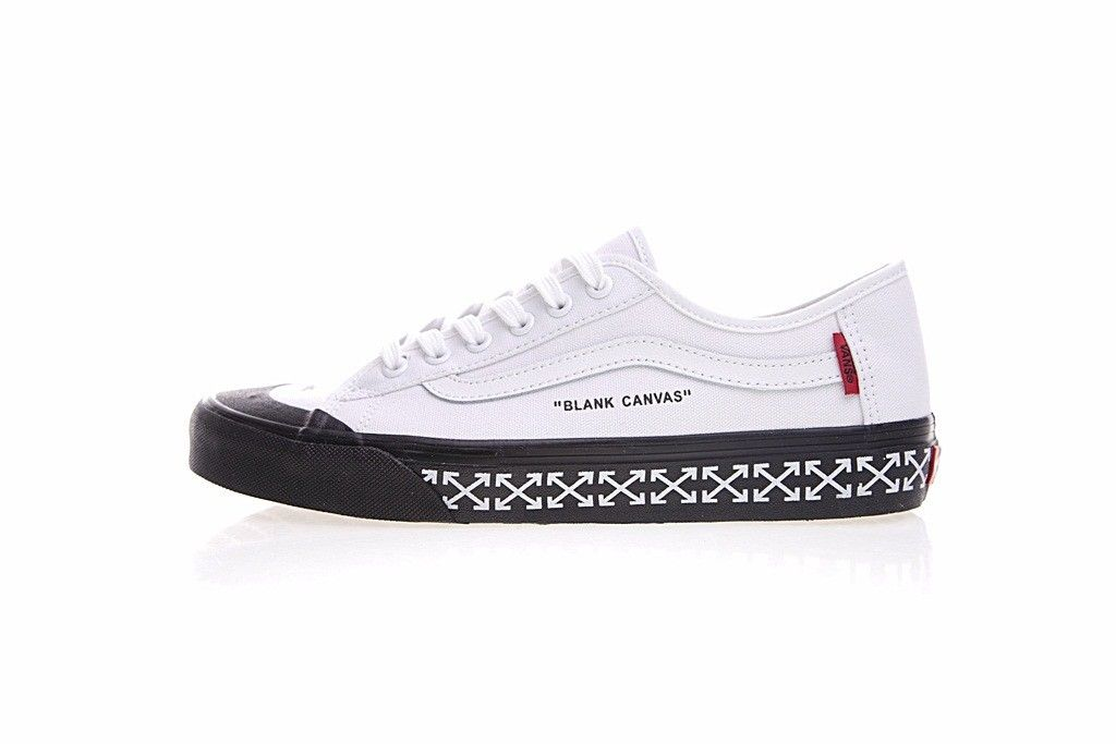Off-White x Vans Old Skool Thin Bottom Canvas White VN000D3HY2018 ... 3c90e09495a