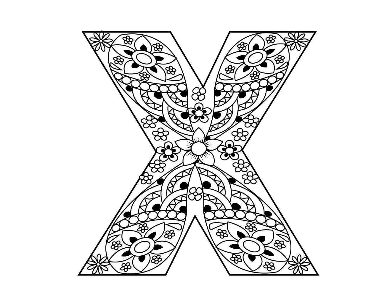 Free Printable Letter X Coloring Pages Printable Letters Coloring Pages Free Printable Letters
