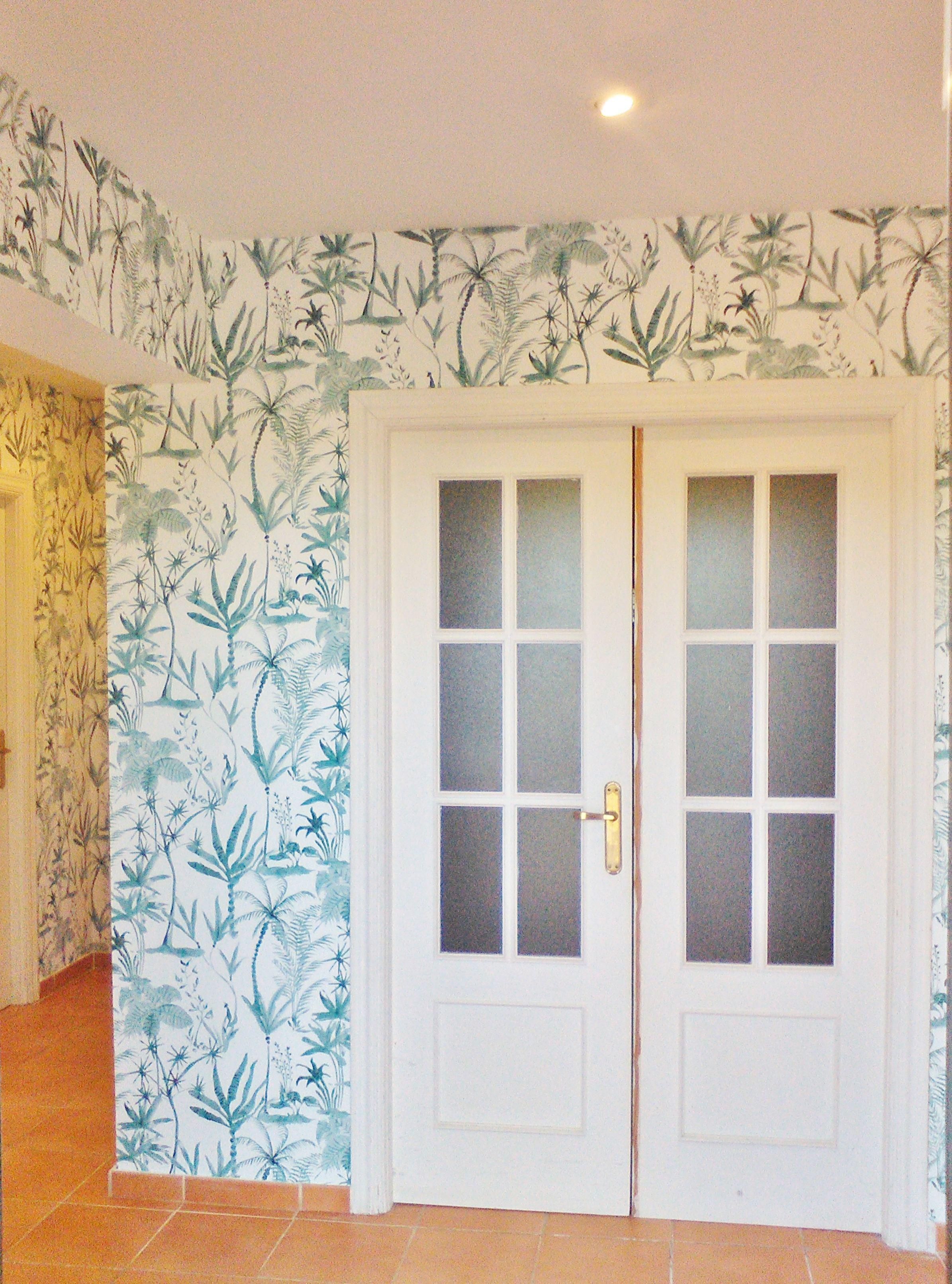Decoraci n paredes pintura y papel pintado decoracion - Papel pintado decoracion ...