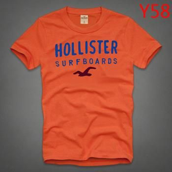 Hot A&F NY Surfer AAA Summer Men T-shirt Orange Selection