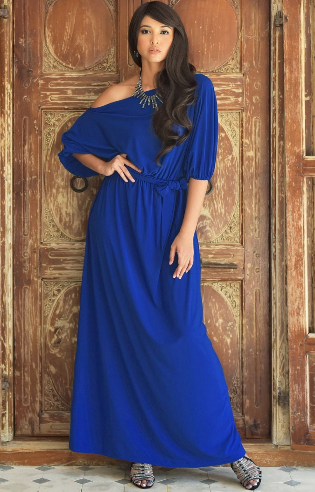 Macy maxi dress off the shoulder sale 34 sleeve gown