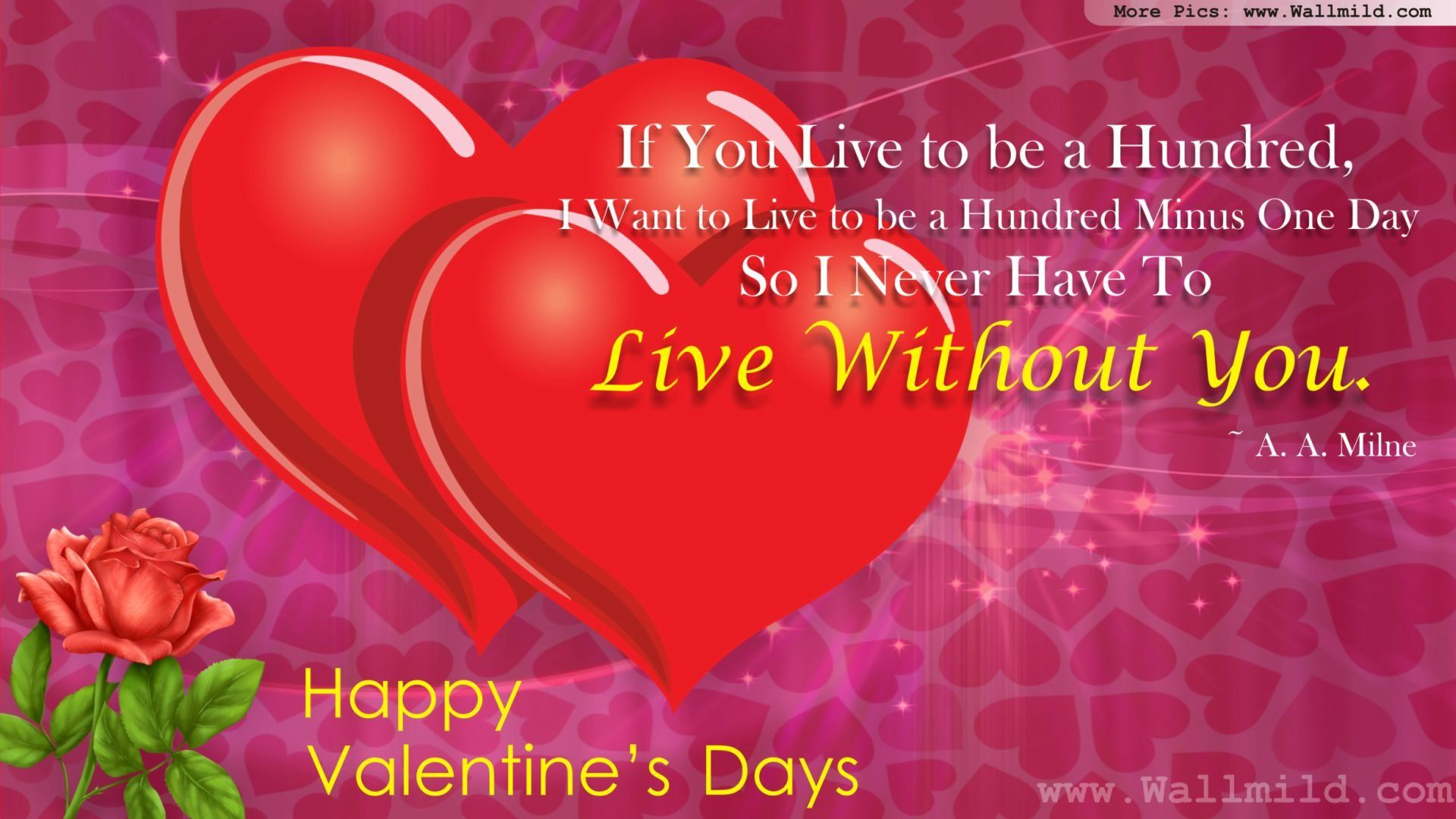 Valentines Love Quotes Love Roses Wallpaper Valentines Day Holidays Wallpapers In Jpg