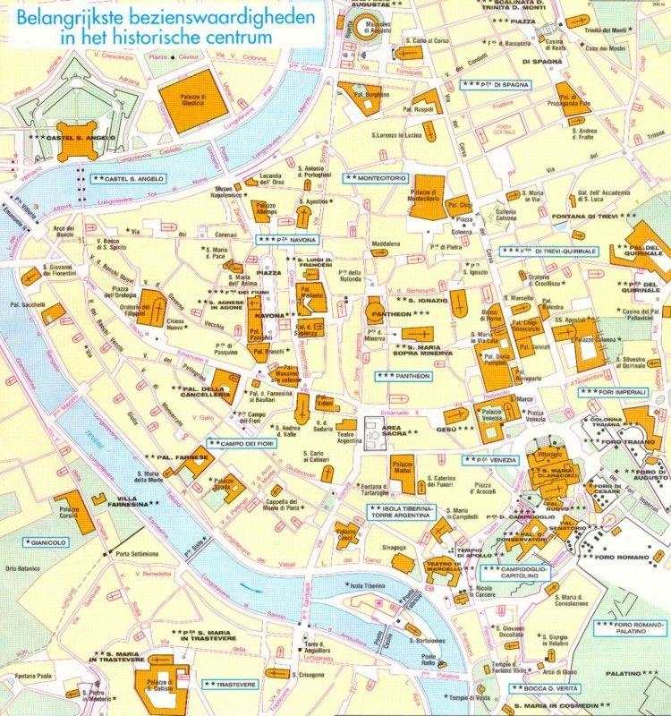 Plattegrond Rome Bezienswaardigheden Google Zoeken Rome