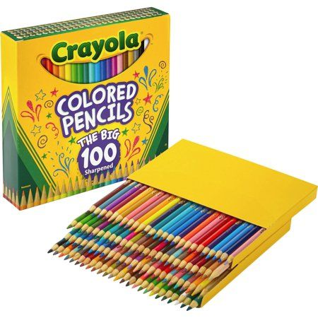 Crayola 100 Count Colored Pencils Assorted Products Pinterest