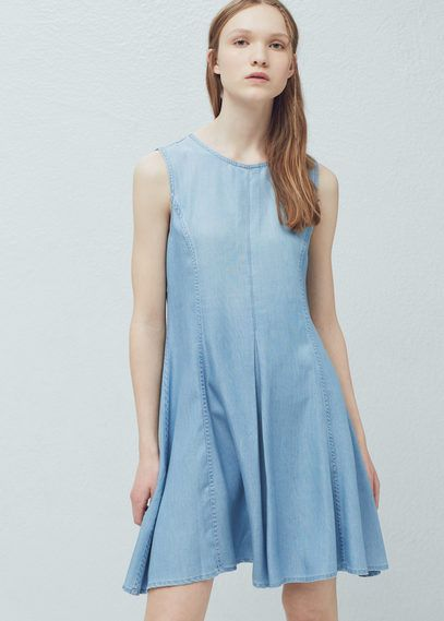 Jeanskleid aus lyocell | MANGO