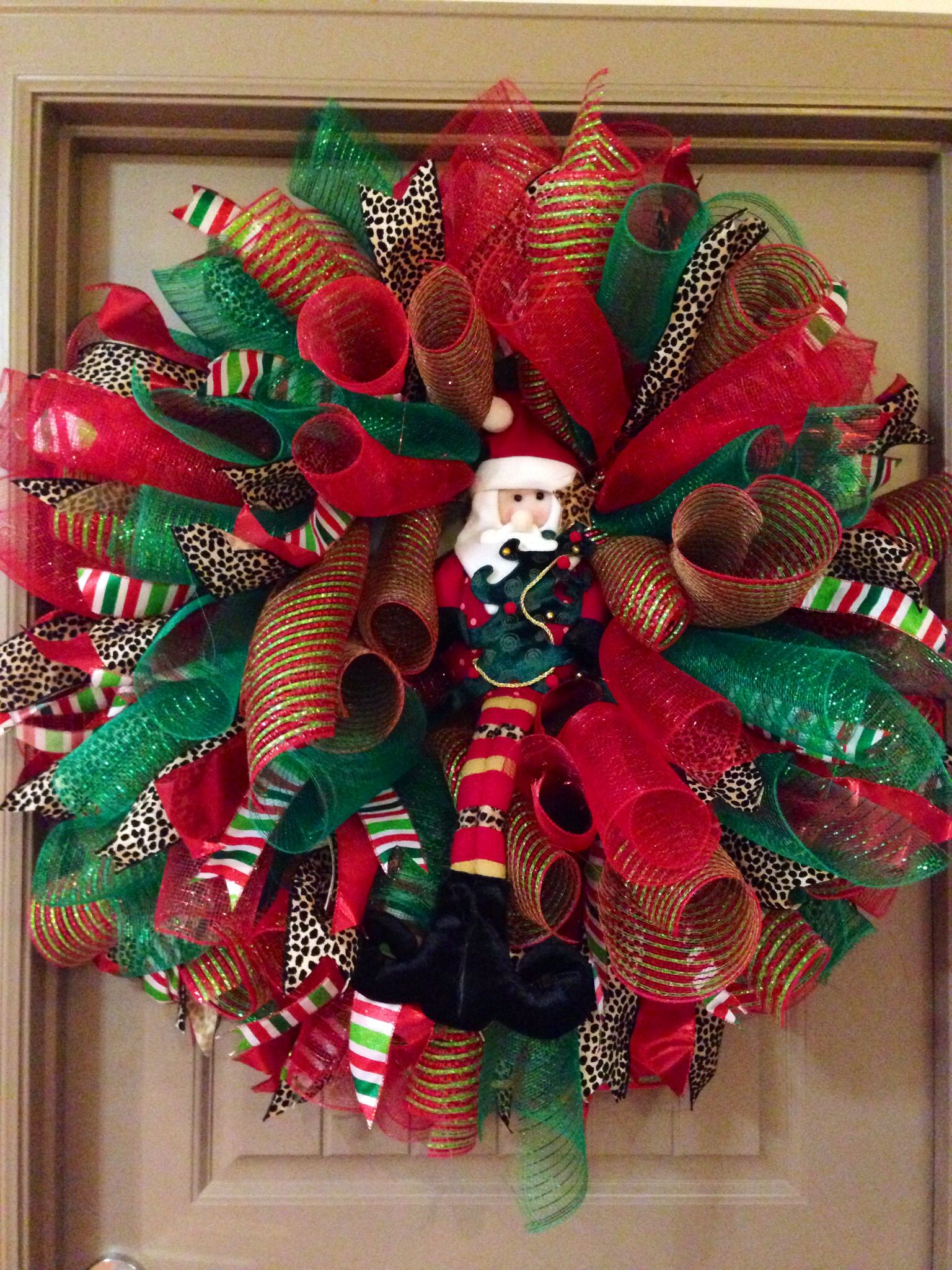 Made This Today Curly Deco Mesh Wreath Selling For 115