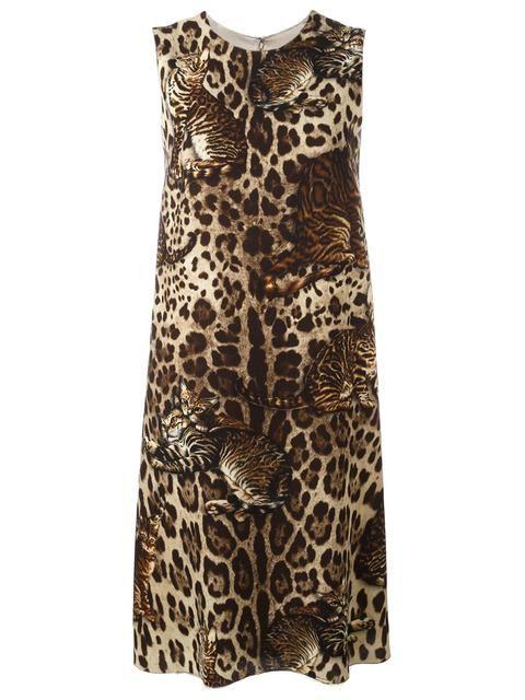 Shoppen Dolce & Gabbana Wollkleid mit Bengalkatzen-Print von Verso aus den weltbesten Boutiquen bei farfetch.com/de. In 400 Boutiquen an einer Adresse shoppen.