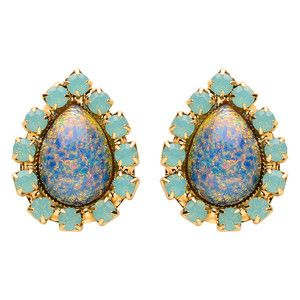 Middleton Earrings Blue Glass, $57, now featured on Fab.