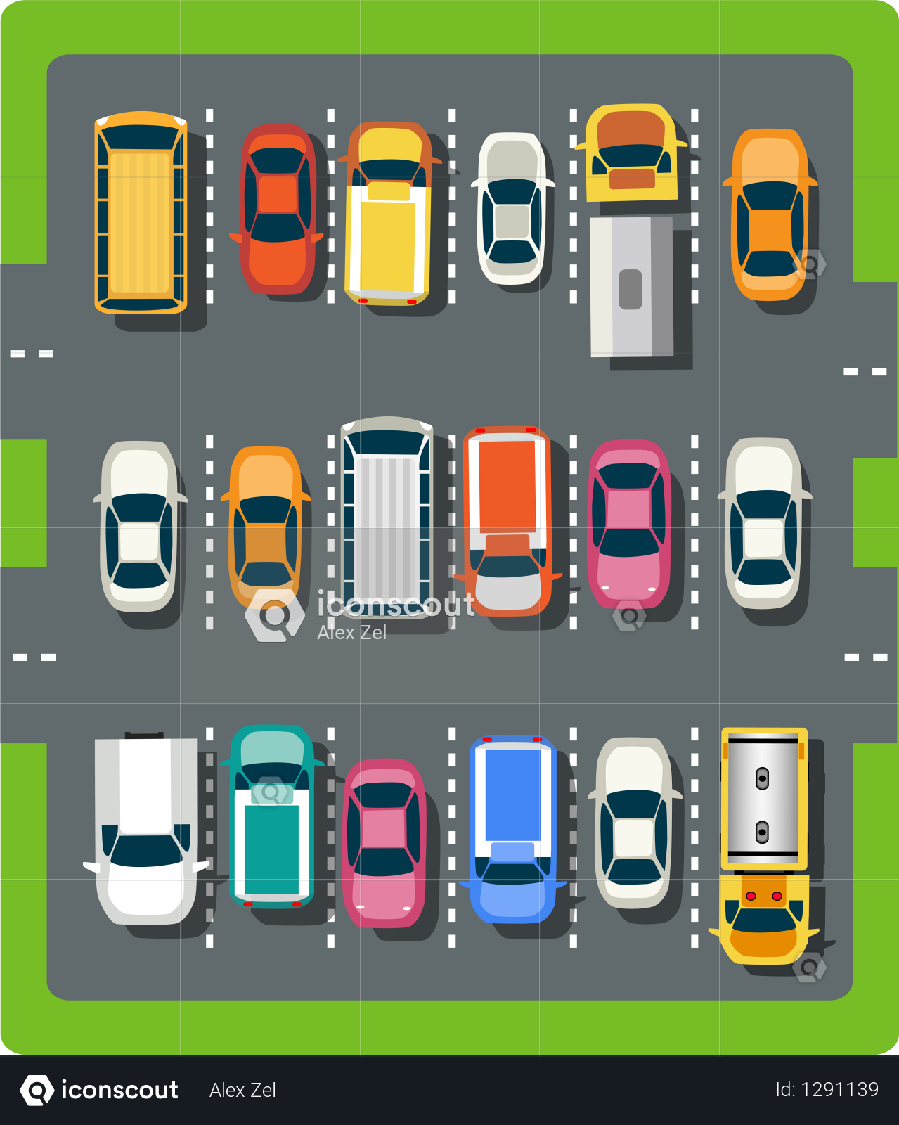 Premium Top View Of The City Parking Illustration Download In Png Vector Format Illustration Cartoon Tops House Illustration