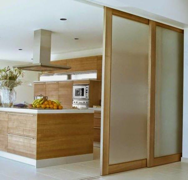 Room Divider Ideas Modern Kitchen With Glass Sliding