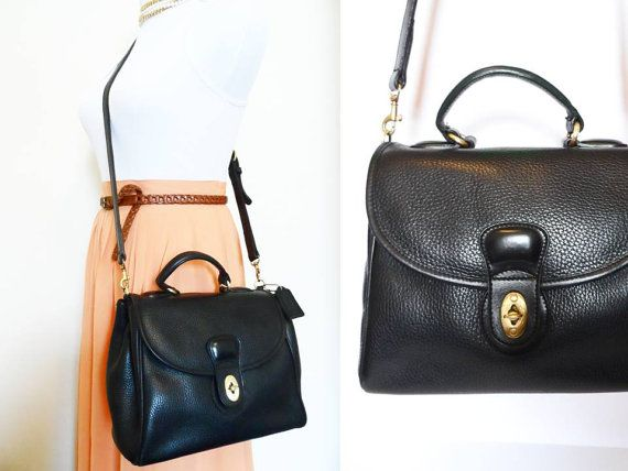 Vintage 90s Coach Sheridan Bag, Kelly Bag Leather Messenger ...