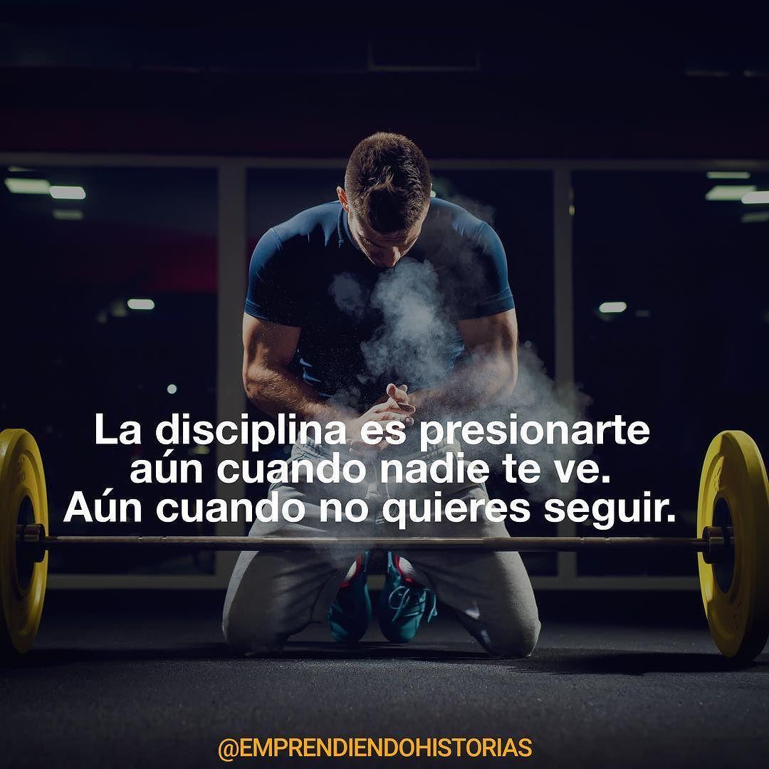Menos Motivación Más Disciplina Frases De Motivacion Gym