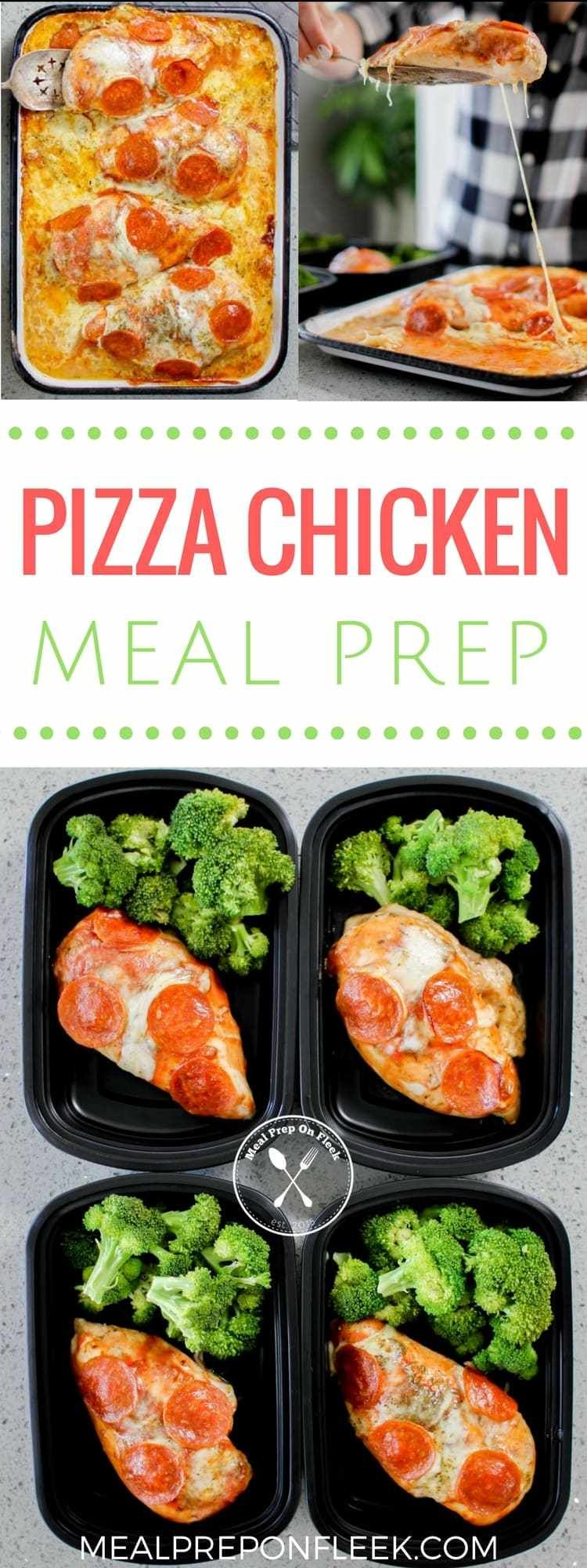 Pizza Chicken Meal Prep So when your craving for pizza kicks in (sometimes daily for us!) you can satisfy it with this protein-packed, low carb meal prep recipe that can be made for less than $4!