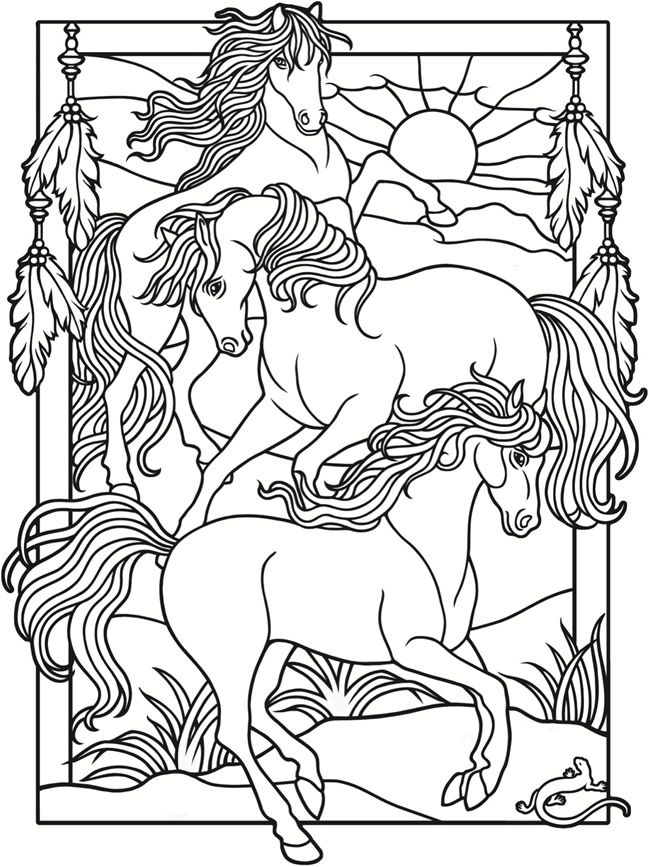 Welcome to Dover Publications Creative Haven Wild Horses ...