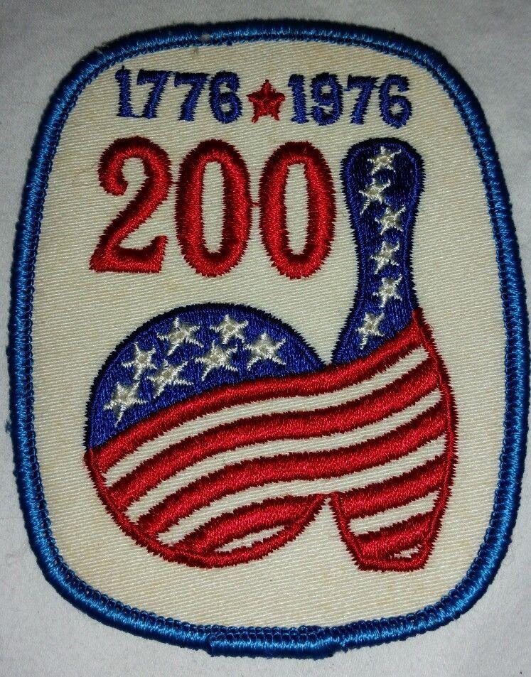 VINTAGE RETRO 1776 1976 BICENTENNIAL PATCH U.S AMERICAN REVOLUTION EMBLEM FLAGS