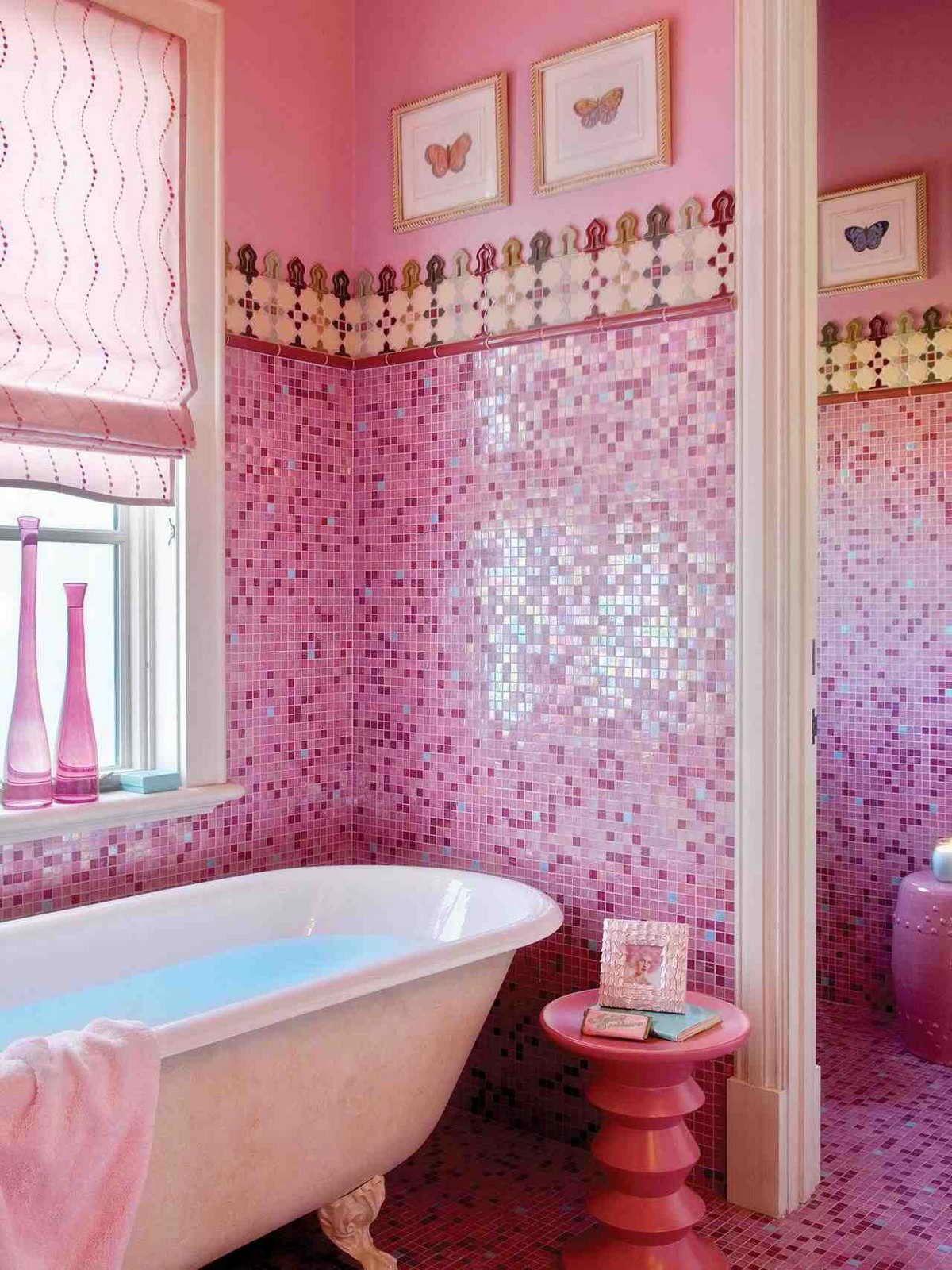 Astounding Pink Bathroom Ideas On Small Bathroom Desain Interior Interior Rumah
