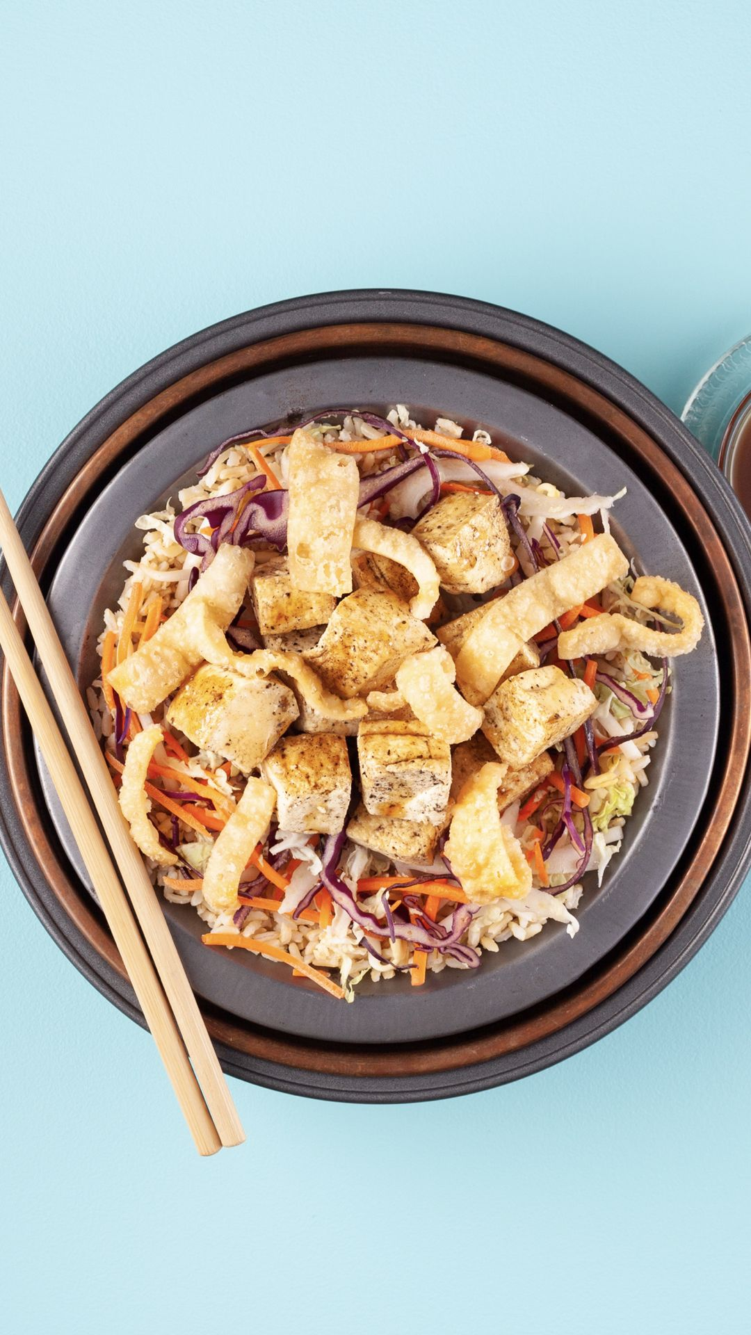 Cantonese tofu bowl with brown rice recipe tofu