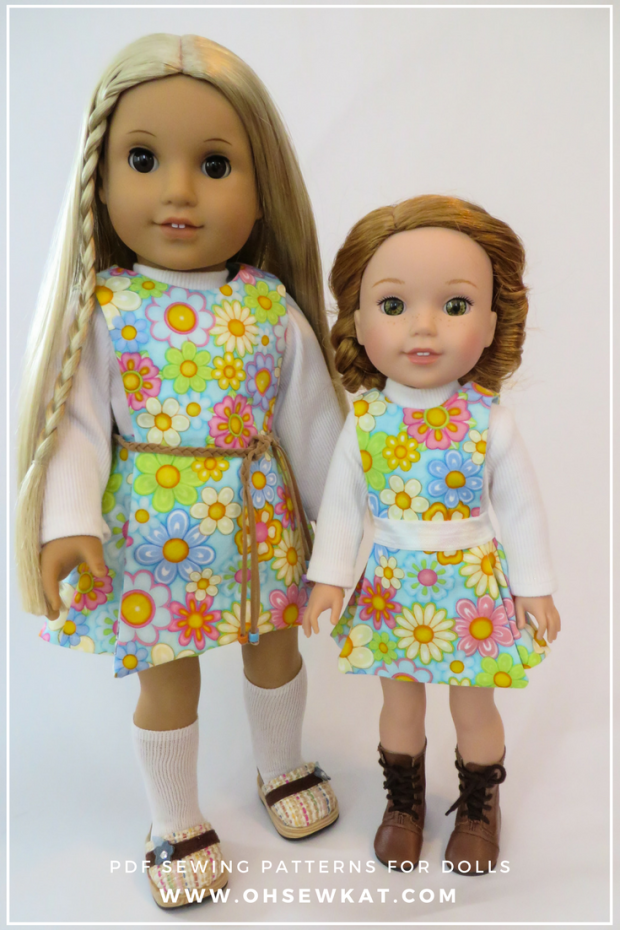 Sewing patterns for doll clothes by OH Sew Kat! (8) | American Girl ...