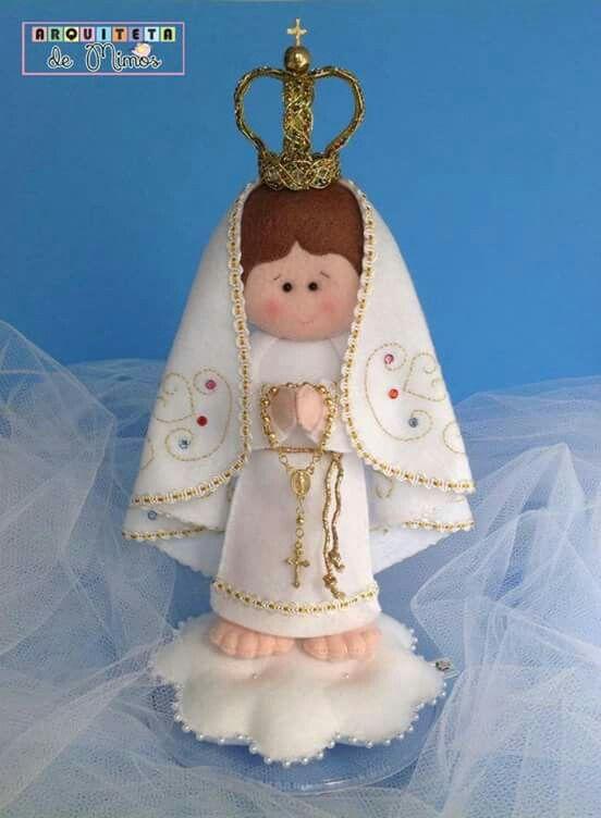 Artesanato Em Feltro Moldes ~ Nossa Senhora de Fátima em Feltro Só moldes para Artesanato em Feltro! Pinterest Santos