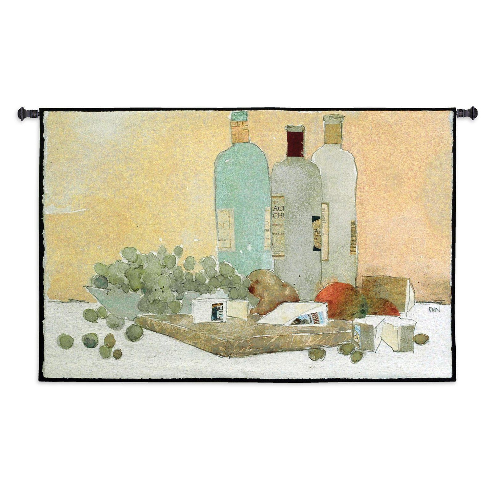 Fine Art Tapestries Art Of Good Living Wall Tapestry - 3600-WH ...