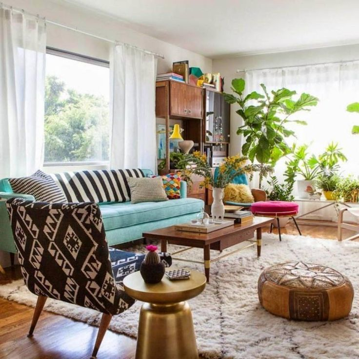 51+ Bohemian Chic Living Room Decor Ideas images