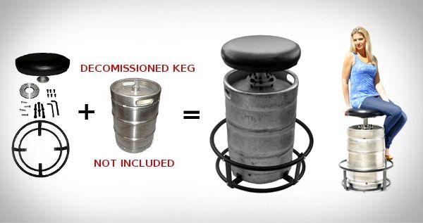 Keg Kit Barstool Mancave Giftsformen Ultimate Man