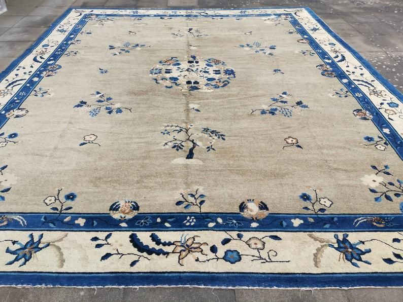 Peking Antique Rug 15 X 12 Ft 450 X 370 Cm Worn To Etsy In 2020 Antique Rugs Rugs Cool Rugs