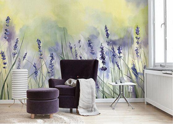 Watercolor Lavender Wallpaper Misty Provence Garden Fresh Flower ...