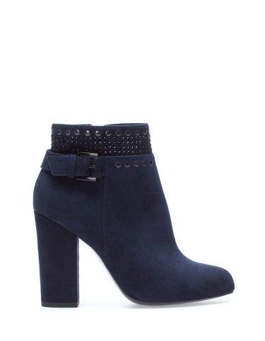 6a7c87cd53 botin azul | Zapatos | Zapatos stradivarius, Zapatos und Botines tacon