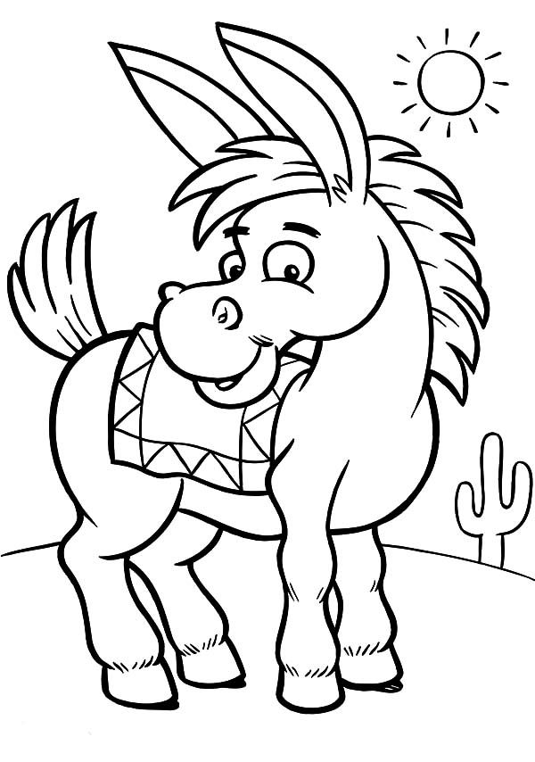 while donkeys may not be considered the smartest animals in the world but they are quite cute for little kids find 10 free printable donkey coloring pages - Donkey Coloring Pages